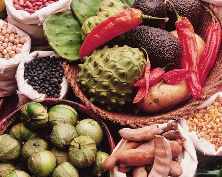 экзотические фрукты +и овощи
